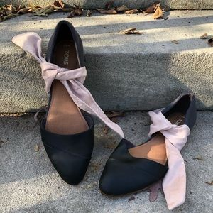 TOMS Jutti D'Orsay Pointed Toe Flats Size 9.5